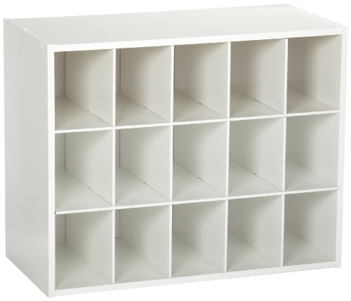 ClosetMaid 15-Cubby Shoe Organizer, White