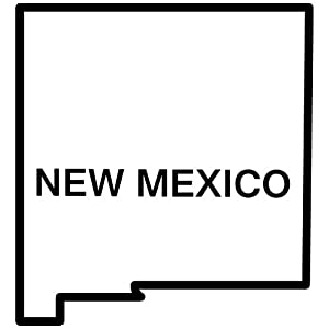 Amazon.com: New Mexico State Outline Decal Sticker (black, 5 inch