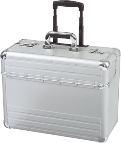 Alumaxx Omega Trolley Pilot Case 2 Combination Locks Silver - 45122