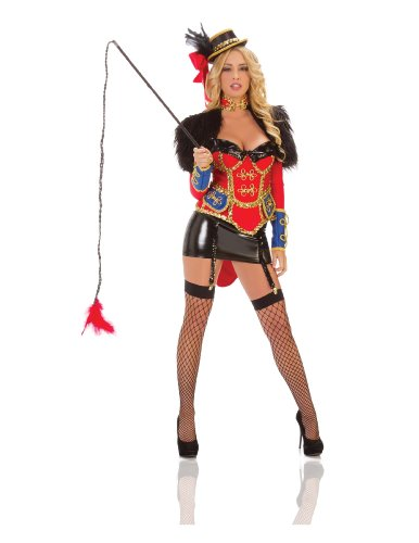 Starline Women's Ring Leader Costume Set, Red/Black, Medium