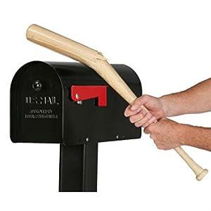 SOLAR GROUP TB1B0000 Post Mailbox, Black