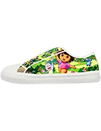DONGMEN Dora The Explorer Woman S Low Top Lace Up Canvas Shoes Sneakers