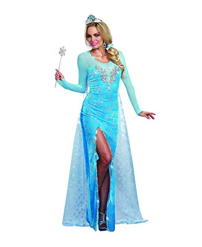 Dreamgirl Women's Sexy Scandinavian Fairytale Princess Costume, Ice Queen