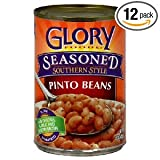 Glory Foods Seasoned Pinto Beans, 15.5-Ounce (Pack of 12)
