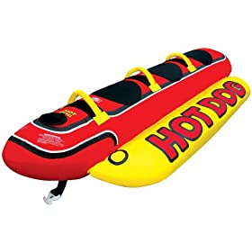 Kwik Tek Hd-3 Tube Inflatable Hot Dog 44-Inch X 102-Inch3-Passenger Airhead