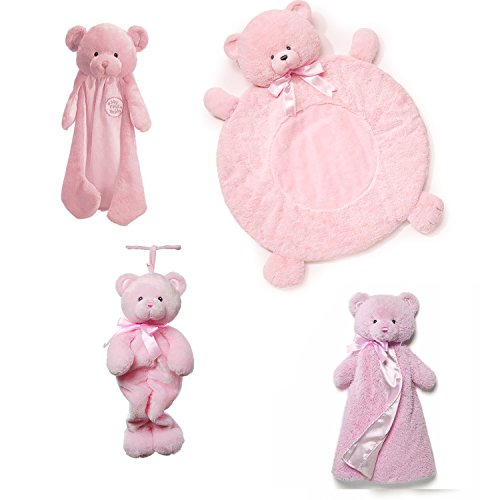 Gund Baby Girl Set; Tilley And Huggybuddy Team Up To Keep Your Baby Girl Feeling Safe And Happy. front-823622