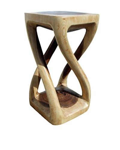 Asian Art Imports Four Leg Stool, Natural