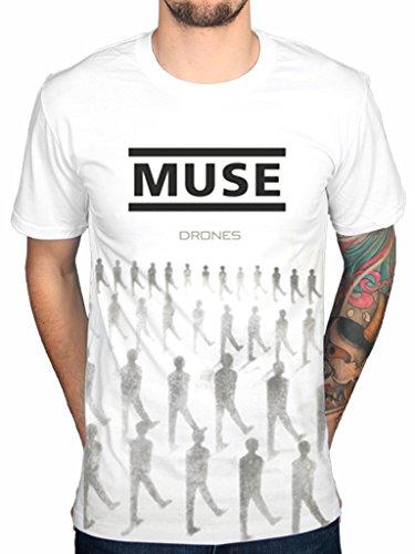 Drones-Maglietta ufficiale Muse Absolution Rock Band - 2nd Law simmetria origine