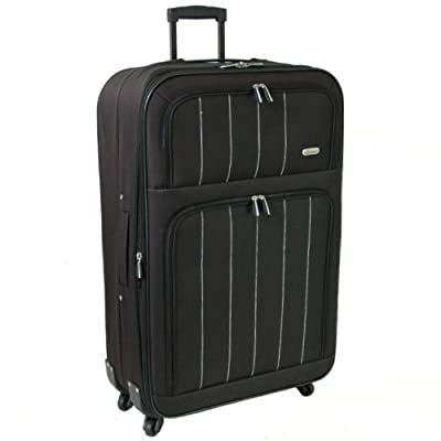 Karabar Extra Large 28 Inch Super Lightweight Expandable 4-Wheel Suitcase (Black) by Karabar