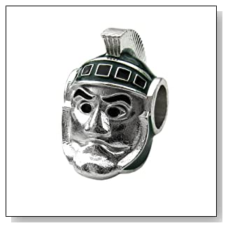 Michigan State Sparty Bead Charm