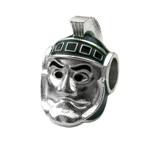 Michigan State Sparty Bead Charm for Spartans - Fits Pandora & Others