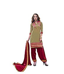 Bridal collection Peach Cotton Embroidered Salwar Suit