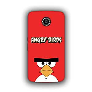 Caseque (Pro) Angry Bird Red Back Cover for Google Nexus 6