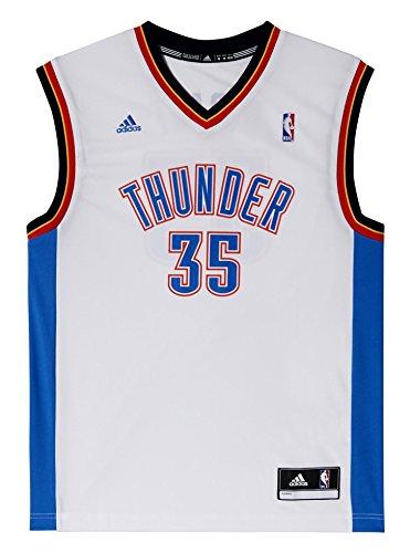 adidas, Maglietta Uomo NBA Oklahoma City Thunder Durant Replica, Multicolore (Multicolor), L