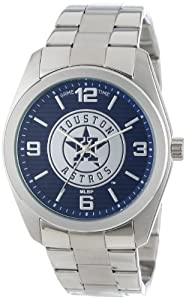 Game Time Unisex MLB-ELI-HOU Elite Houston Astros 3-Hand Analog Watch by Game Time