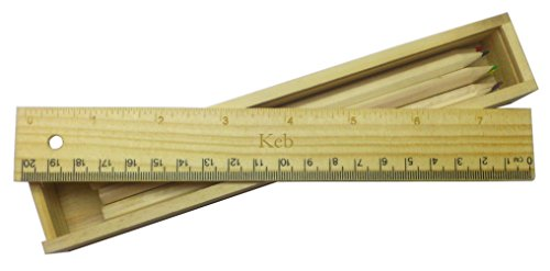 coloured-pencil-set-with-engraved-wooden-ruler-with-name-keb-first-name-surname-nickname
