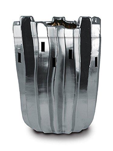 Silver Ice Glacier Contemporary Design Ceramic Stoneware Electric Wax and Oil Warmer (Electric Stone Oil Burner compare prices)
