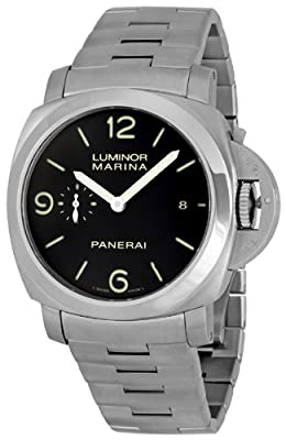 Panerai Men's PAM00328 Luminor Marina 1950 Black Dial Watch