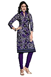 Riddhi Dresses Women's Cotton Unstitched kurti (Riddhi Dresses 27_Multi Coloured_Free Size)