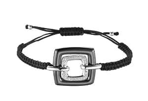 Ceranity - 1-32/0029-N - Bracelet Femme - Argent 925/1000 3.1 gr - Oxyde de zirconium - Blanc - 19 cm