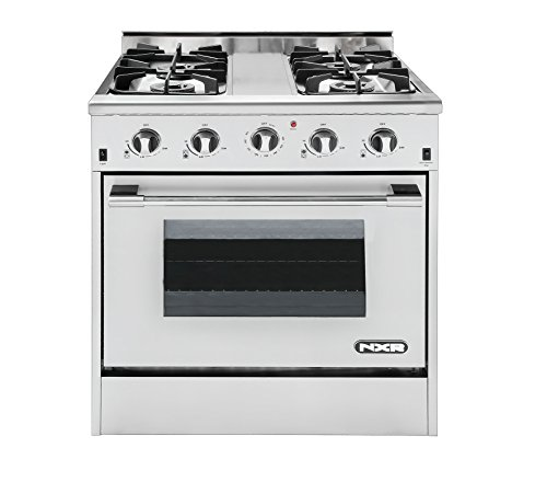 NXR-DRGB3001-Professional-Style-Gas-Range-30-Stainless-Steel