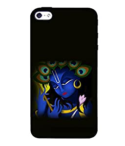 printtech Lord God Krishna Small Design Back Case Cover for Apple iPhone 4::Apple iPhone 4S