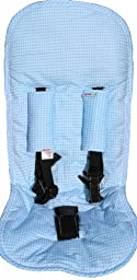 Minene Pushchair Liner and Straps (Blue Gingham)
