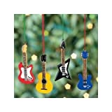 12 Mini 3 GUITAR Christmas ORNAMENTS BASS ACOUSTIC Electric FENDER Replica Gift COLLECTIBLE Holiday