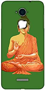 Snoogg Buddha for Peace Green Designer Protective Back Case Cover For Coolpad Note 3 (White, 16GB)