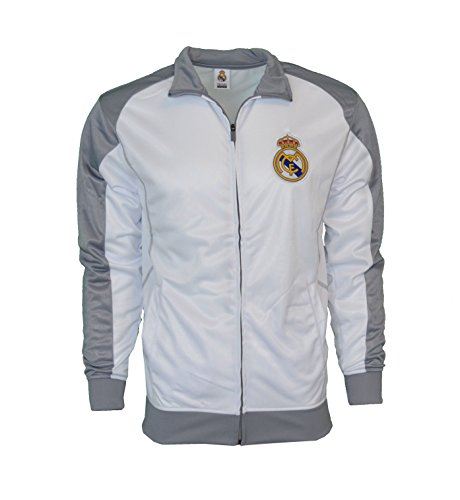 845ac472320 Real Madrid Jacket Track Soccer Adult Sizes Soccer Football Official  Merchandise (WHITE - GRAY