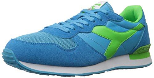Diadora Men's Camaro Skate Shoe, Cyan Blue/Green Fluorescent, 10.5 M US
