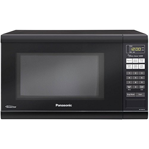 Microwave Oven Premium Compact Countertop Panasonic Electric Stainless Steel Black Turntable 1200 Watt Cookware with Inverter (Microwave Toaster Oven In One compare prices)