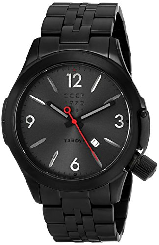 CCCP Men's CP-7010-44 Shchuka Analog Display Swiss Quartz Black Watch