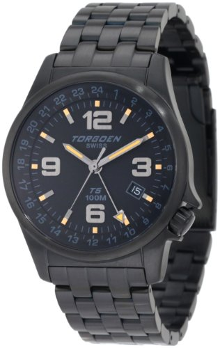 Torgoen Swiss Men's T05206 T05 Series Classic Black Aviation Watch