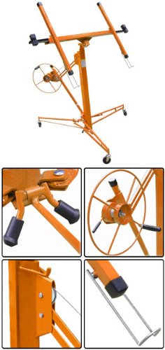 11' 15' Drywall Lift Plasterboard Panel Lifter Orange