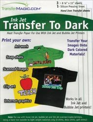 Transfer Magic Ink Jet Transfer Paper For Dark Fabric 8 1/2