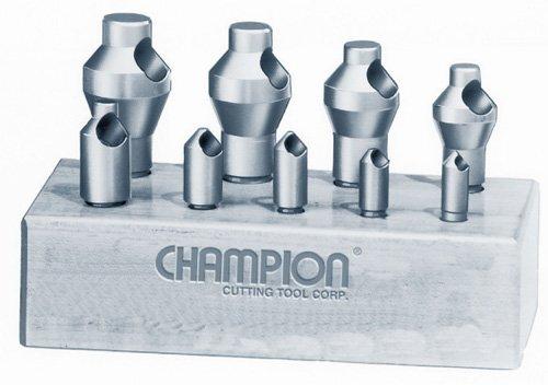 Champion CSK-SET-1 Zero Flute 82-Degree Countersink Set, 9-Piece