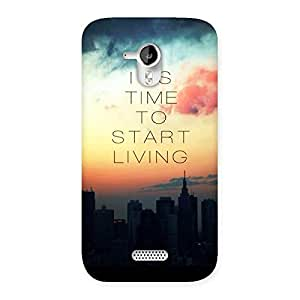 Cute Its Start Living Back Case Cover for Micromax Canvas HD A116