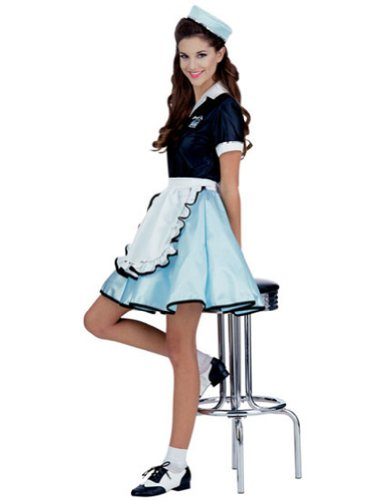 Car Hop Girl Costume Adult Halloween Costume - Most Adults