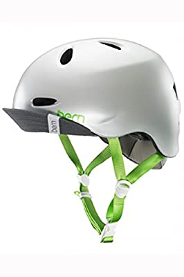MTB Helmet 2015 Bern Berkley Women's Helmet Visor Flip Delphin Satin Grey by Bern
