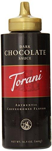 Torani Dark Chocolate Sauce,16.5 Oz Squeeze Bottle (New Packaging) front-195580