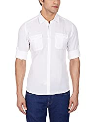 Turtle Men's Casual Shirt (8903572255132_74177_39_White)