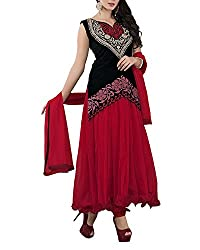 Jiya Women Net Dress(BTMDSZ906 ,Red)