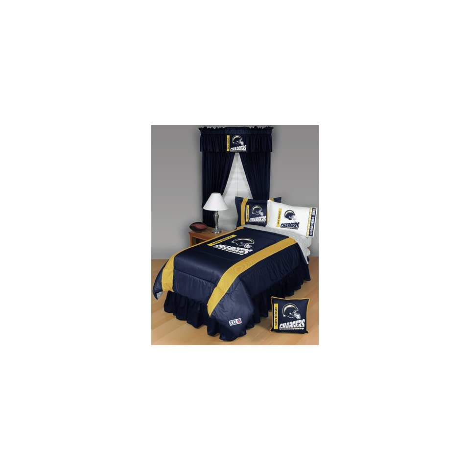San Diego Chargers NFL Side Line Collection Bed Complete Set