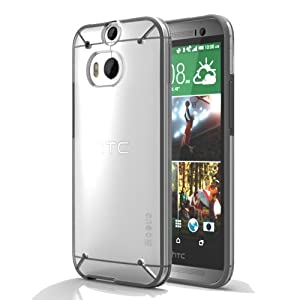 Poetic HTC One M8 Case [ATMOSPHERE Series] - TPU Bumper and Hard Shell Clear Case for HTC One (M8) Clear/Gray (3-Year Manufacturer Warranty from Poetic)