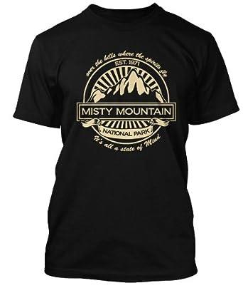 Led Zeppelin Misty Mountain Hop T-shirt, Herren, Small, Schwarz