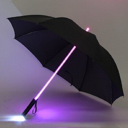 Water & Wood Cool Blade Runner Light LED Flash Umbrella Night Protection Gift