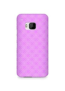 Amez designer printed 3d premium high quality back case cover for HTC One M9 (Flower Pink Pattern)