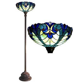 torchiere floor lamp blue tiffany style floor lamp. Black Bedroom Furniture Sets. Home Design Ideas