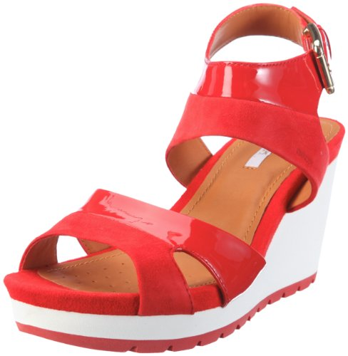 Geox Women's D Gea F Red Wedges D22U3F6621C7000 7 UK, 40 EU